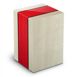 Houten urn grijs en rood Compagnon Venezia Rosso UR-3-VE-05L 3,4 Liter}