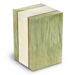 Houten urn groen en ivoor Venezia Erica UR-V-VE-03L 7 L}