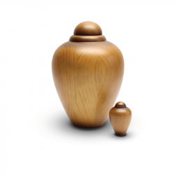 Houten mini urn rond beuken WU103}