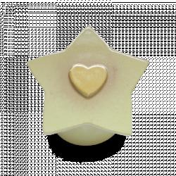 Keramiek baby urn met gouden hart KLU12-11-5}