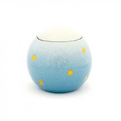 Keramiek baby urn met gouden sterren KLU8-10-1}