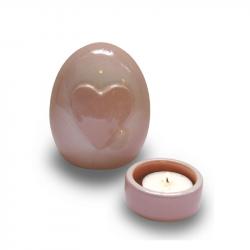 Keramiek baby urn met hart AMKLU12-1-2}
