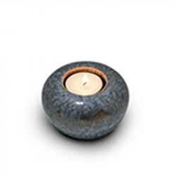 Keramiek blauwe mini urn met waxinelicht KU302K}