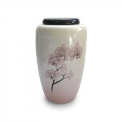 Keramiek urn met orchidee UV15-1-1}