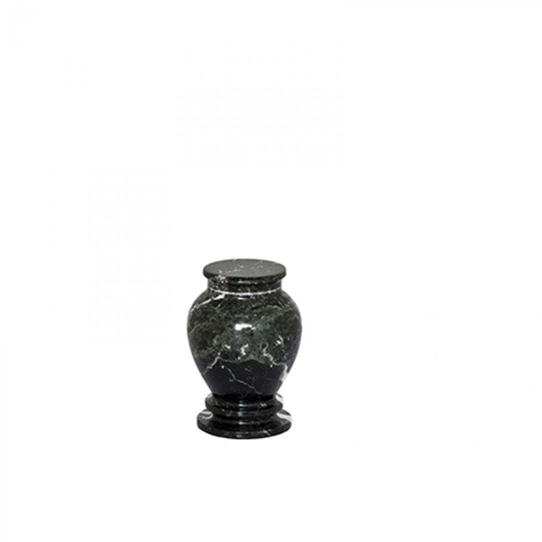 Marmeren mini urn zwart/wit SU6781K