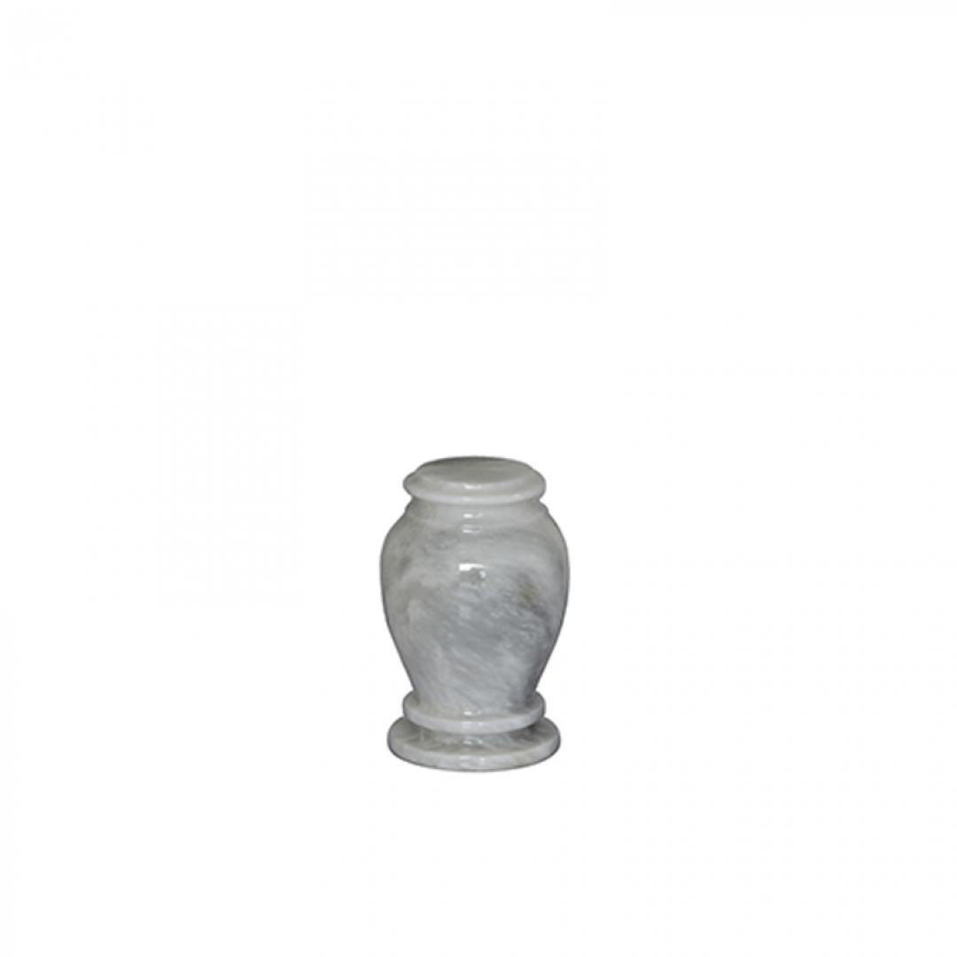 Marmeren mini urn wit grijs SU6783K