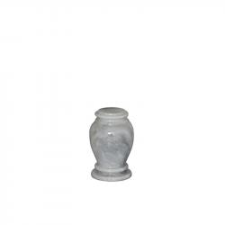Marmeren mini urn wit grijs SU6783K}