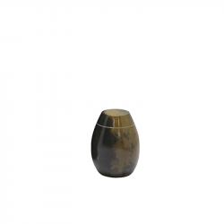 Marmeren mini urn zwart bruin SU2980K}