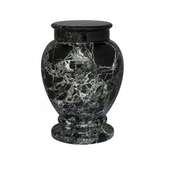 Marmeren urn zwart/wit SU6781}