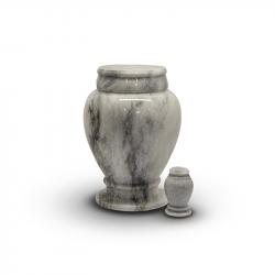 Marmeren urn wit grijs SU6783}