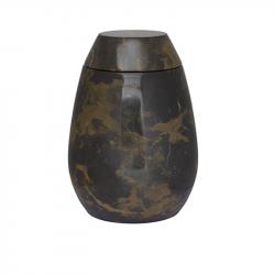 Marmeren urn zwart bruin SU2980}