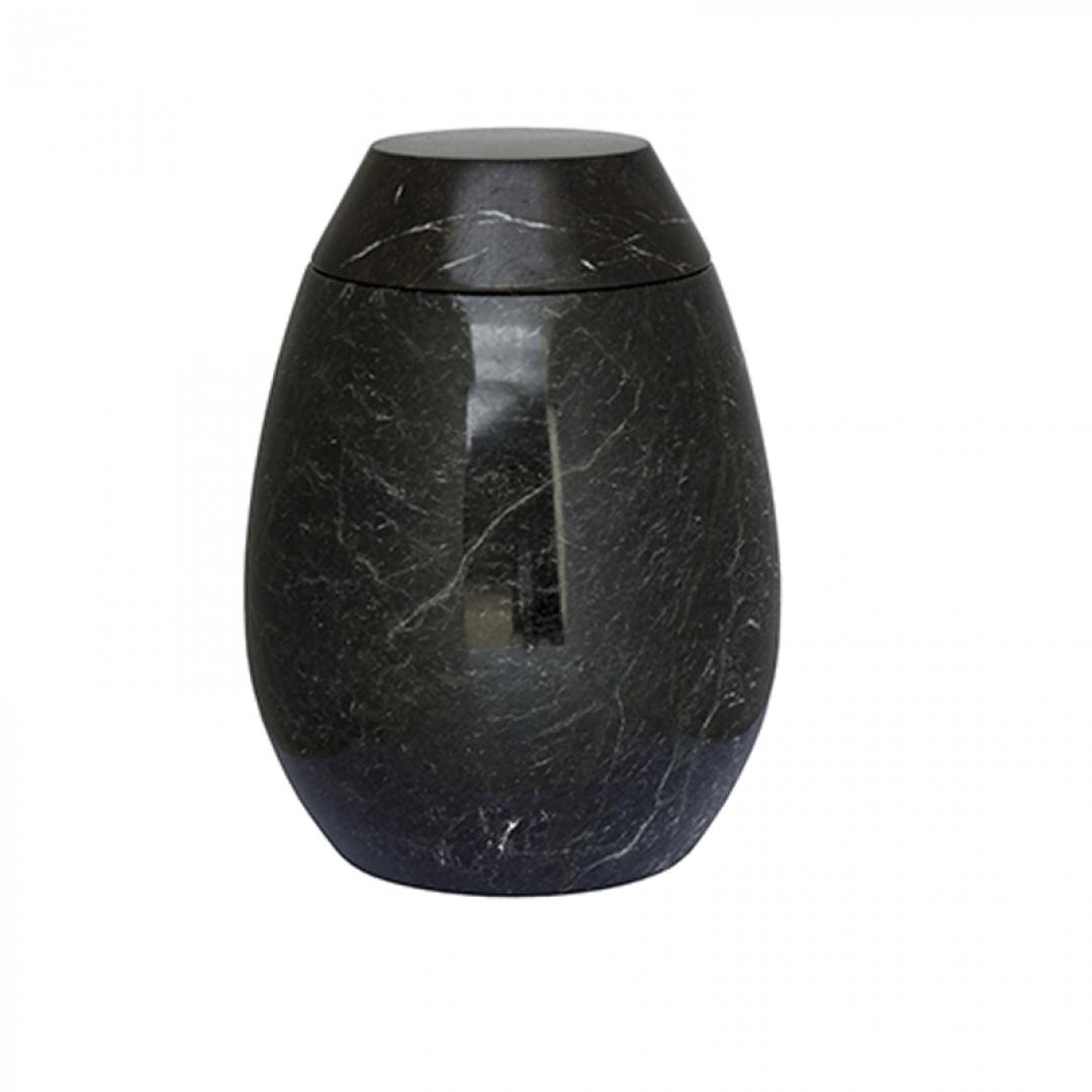 Marmeren urn zwart grijs SU2981