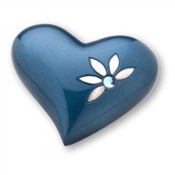 Blauw hart mini urn HUH271}