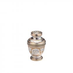 Messing mini urn bloemmotief HU186K}