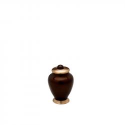 Messing mini urn bruin HU403K}