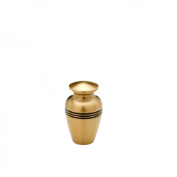 Messing mini urn lijnen HU132K}