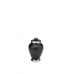 Messing mini urn zwart HU401K}