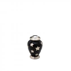 Messing mini urn zwart met sterren HU404K}
