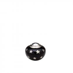 Messing mini urn zwart met sterren HU504K}