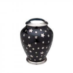 Messing urn zwart met sterren HU404}