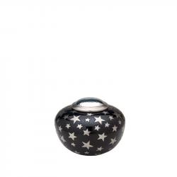 Messing urn zwart met sterren HU504}