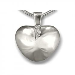 Zilveren hanger hart voor 2 personen AH070}