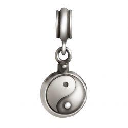 Zilveren bedel Yin Yang met asruimte 3011}