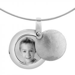 Zilveren medaillon rond 8112Z}