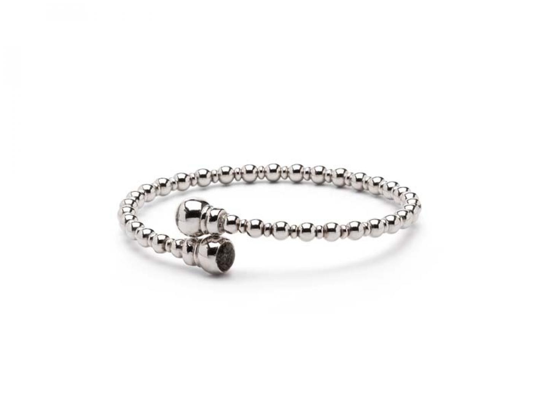 Zilveren armband met bolletjes band - BL 007