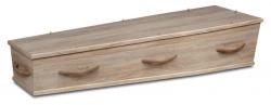 Grijs wax kist met houten grepen 1-90HC8}