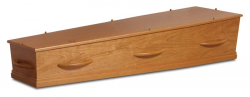 kersen fineer kist met houten grepen 1-40HC8}