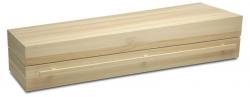 Massief populieren houten kist Carino natuur}