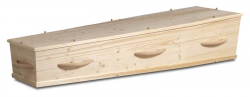 Massief vuren houten kist met houten grepen 1-50HC8}
