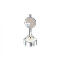 Aluminium kaars-urn met glas - 110 A}