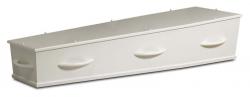 Witte kist met houten grepen 1-20WHC8}