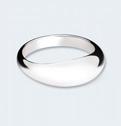 Zilveren ring glad 543 ZR}