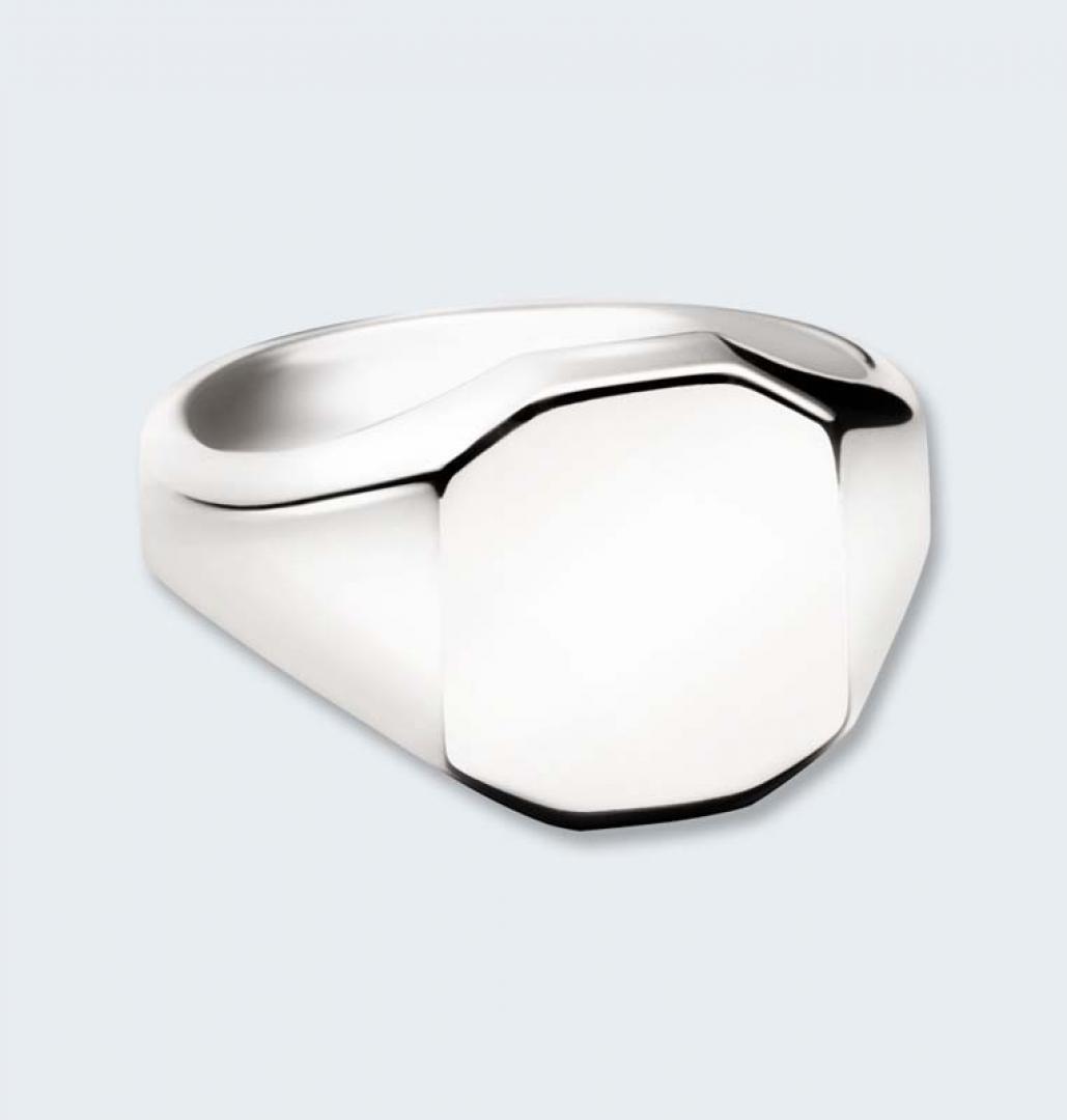 Zilveren herenring achtkant 541 HZ