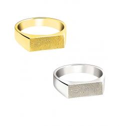 Zilveren ring recht voor vingerafdruk 764}