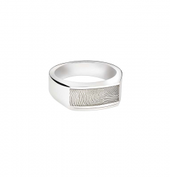 Zilveren ring  voor vingerafdruk 767}