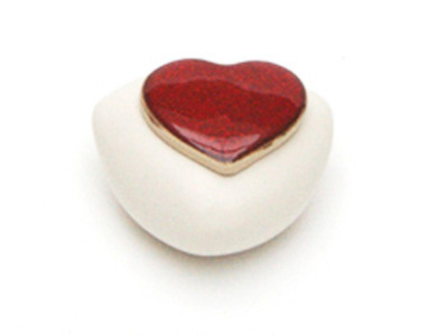 Koesterurn mini urn keramiek KUd/hart.rood