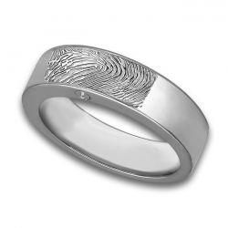 Assieraad, ring met askamer en vingerafdruk glans R033.6FP}