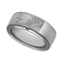 Assieraad, ring met askamer en vingerafdruk glans R033.8FP}