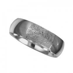 Vingerafdruksieraad, ring met vingerafdruk glans RF 01.6}