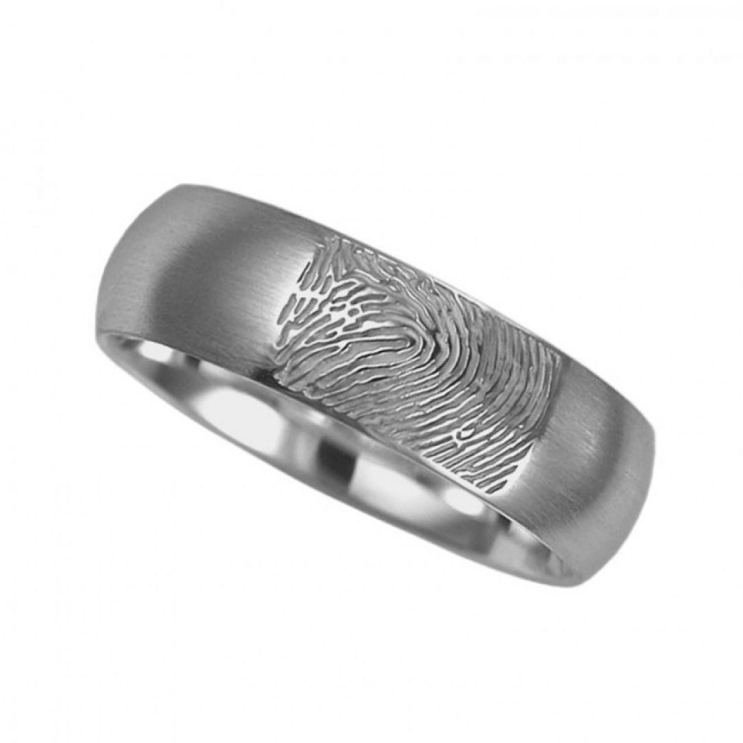 Vingerafdruksieraad, ring met vingerafdruk mat RF 01.6m