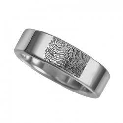 Vingerafdruksieraad, ring met vingerafdruk glans RF 02.6}