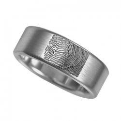 Vingerafdruksieraad, ring met vingerafdruk glans RF 02.8}