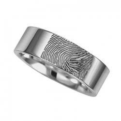Vingerafdruksieraad, ring met vingerafdruk glans RF 03.6}
