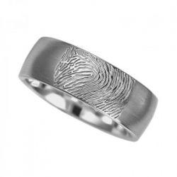 Vingerafdruksieraad, ring met vingerafdruk mat RF 04.7M}