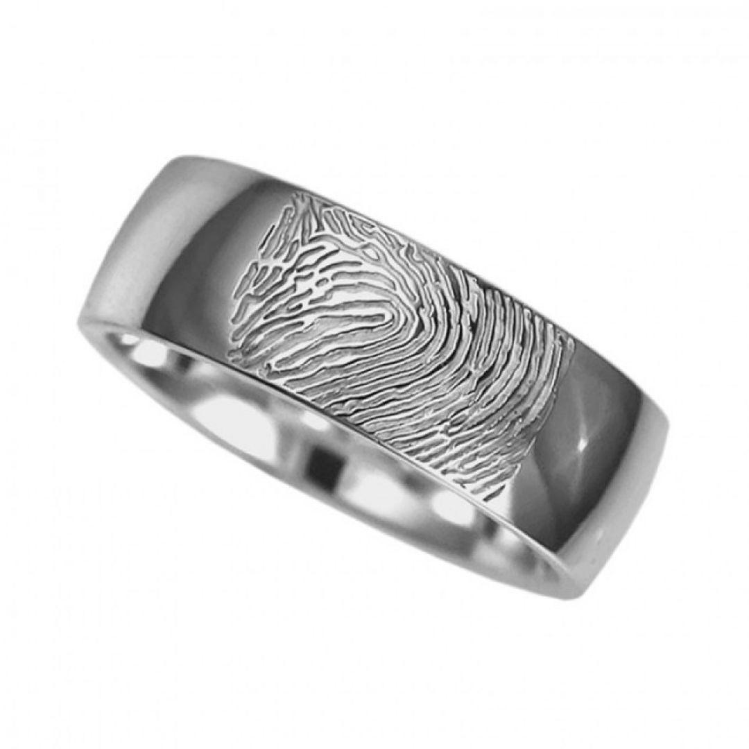 Vingerafdruksieraad, ring met vingerafdruk glans RF 04.7