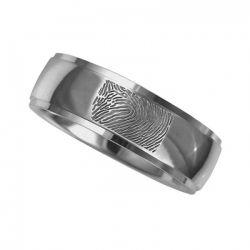 Vingerafdruksieraad, ring met vingerafdruk glans RF 05.6}